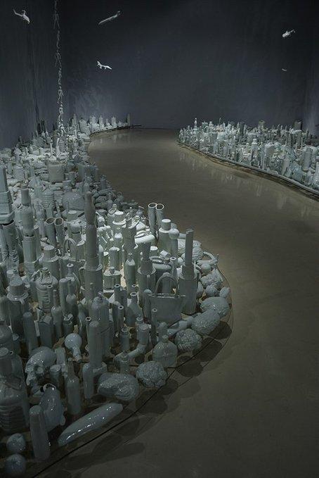 Produktsicht | Liu Jianhua: Floating Landscape- Along Both Sides... | Modern Art China : Contemporary Chinese Art | Scoop.it