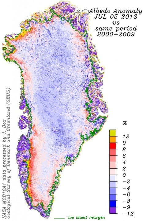 Greenland ice sheet ablation area albedo above average | Inuit Nunangat Stories | Scoop.it