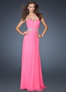 Pink Strapless Floor Length Beaded Top Layered Prom Dress [Beaded Top Layered Prom Dress] - $193.00 : www.2014dresstrends.com | long prom dresses | Scoop.it
