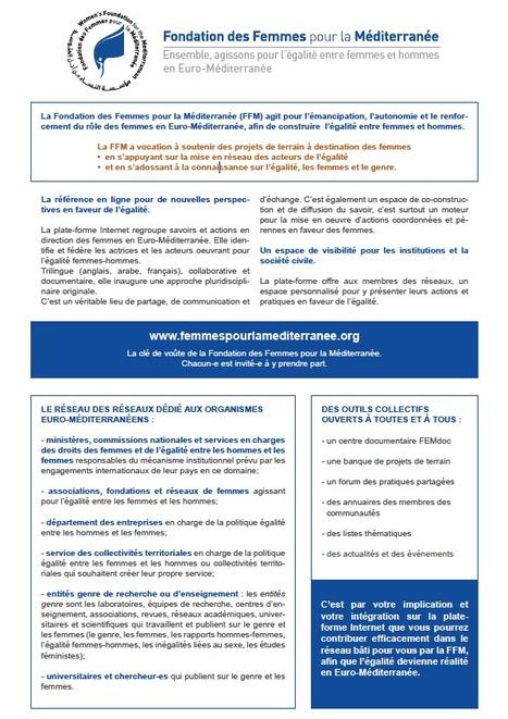 Fondation des Femmes de l'Euro-Méditerranée : copie de la Fondation des Femmes pour la Méditerranée, liquidée en mars 2012 ? | La Fondation des Femmes de l'Euro-Méditerranée sous la loupe | Scoop.it