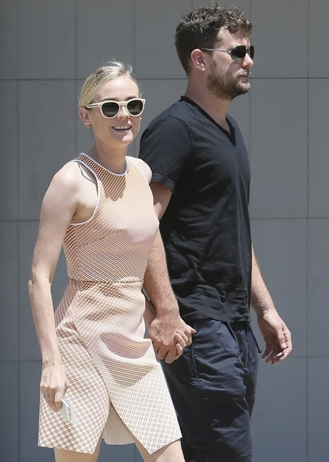 Diane Kruger in Dion Lee Dress and Joie Toledo Lace-Up Sandals | The Web Things | Scoop.it