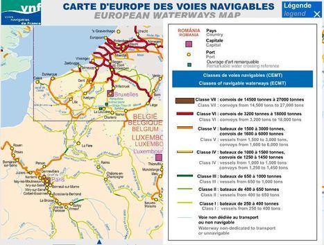 Une carte des voies navigables en Europe | Enseigner l'Histoire-Géographie | Scoop.it