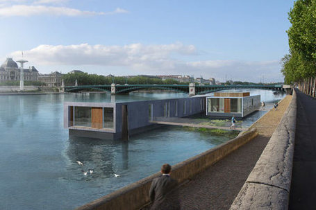 Lyon un futur hotel flottant sur le rhone - Economie - Tribune de Lyon | FCBA_Innovation et technologie | Scoop.it