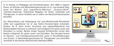 H. D. Nicolay ist Pädagoge und Familientherapeut. | Reading & Writing Challenges and Dyslexia | Scoop.it