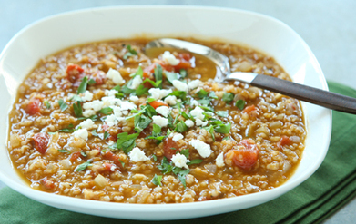 Tomato Bulgur Soup with Warm Spices | Neverending Healthy Recipes | Scoop.it