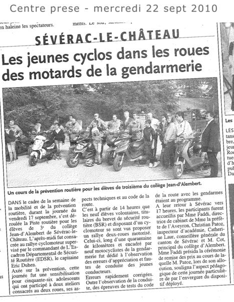 20100922-cyclo-gendarme.jpg - Google Drive | Formations auprès des jeunes ERJ et stage moto AFDM | Scoop.it