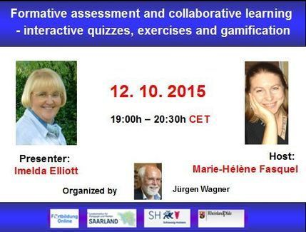 Globinars: Free webinar with Imelda ELLIOTT: Formative assessment | EFL Teaching Journal | Scoop.it