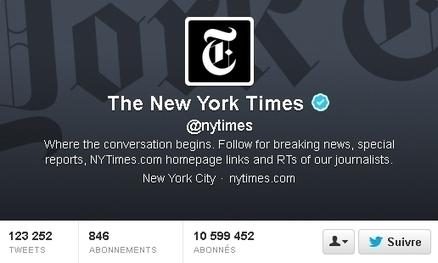 Comment le New York Times utilise Twitter | Pro du Web | Scoop.it