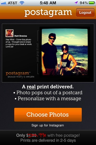 Sending your Instagram pictures as a printed postcard using only your iPhone | instagram mashups | Scoop.it
