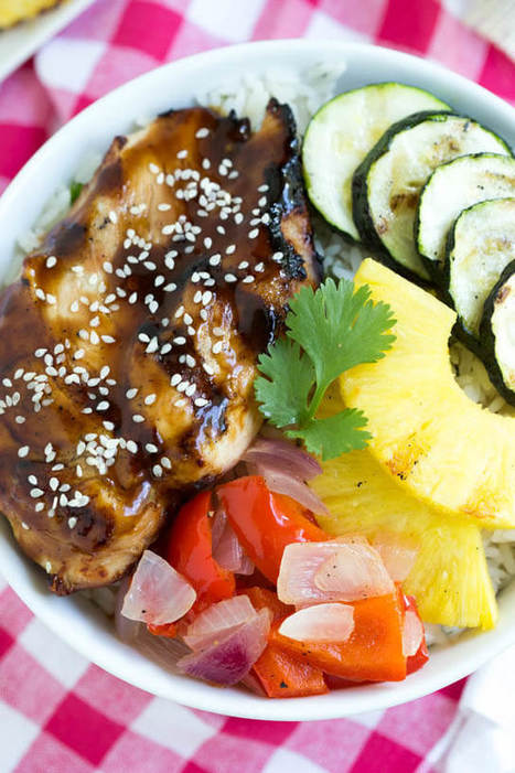 Grilled Teriyaki Chicken Bowls | Passion for Cooking | Scoop.it