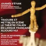Traduire et mettre en scène le théâtre italien en langue française aujourd'hui - Université Lille 3 | Politique des langues à l'université | Scoop.it
