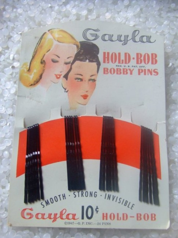 vintage bobby pins still on original card by rosebudcottage | Herstory | Scoop.it