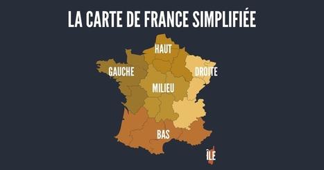 Top 14 des cartes de France vue autrement, c'est vrai que ça change   actualité pédagogique   Scoop.it