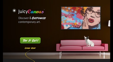 Discover, Customize And Share Contemporary Art With JuicyCanvas | Social Media Content Curation | Scoop.it