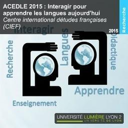 Podcast ACEDLE 2015: Interagir pour apprendre les langues aujourd'hui | Technologies numériques pour l'enseignement-apprentissage des langues | Scoop.it