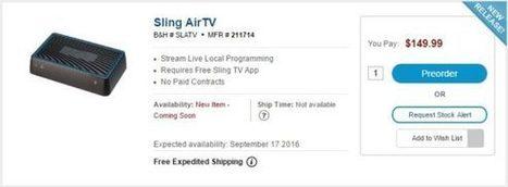 Sling TV Gets Local Channels Next Month via AirTV - Zatznotfunny | mvpx_CTV | Scoop.it