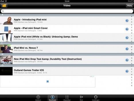 Handleiding: YouTube-video's opslaan en offline bekijken op je iPad - MacWorld | Digital didactics boosting creativity | Scoop.it