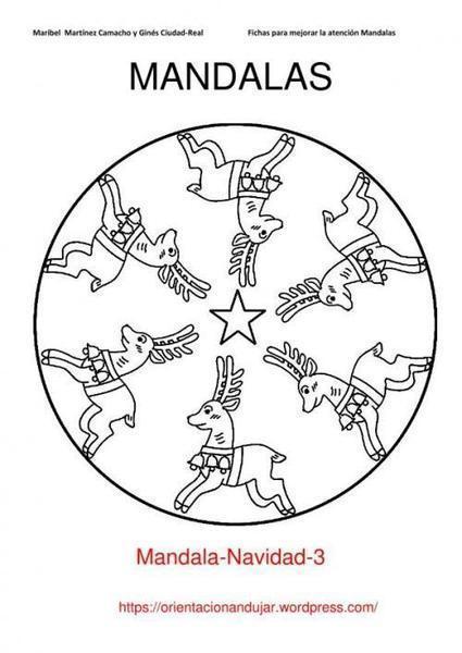 10 Mandalas Navideñas. Para colorear y trabajar laatención   EDUDIARI 2.0 DE jluisbloc   Scoop.it