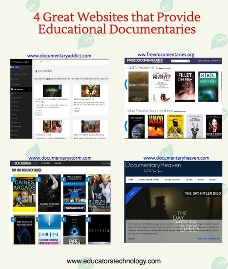 4 Great Websites That Provide Free Educational Documentaries for Teachers via @medkh9 | Utilidades TIC para el aula | Scoop.it