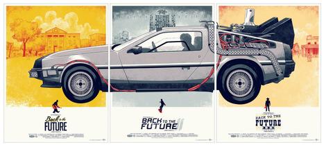 Un superbe triptyque des affiches de «Retour Vers le Futur» | CRAW | Scoop.it