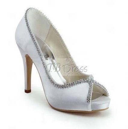 $ 79.99 Beautiful  Upper Heel Peep-toes Wedding Bridal Shoes | SEXY | Scoop.it