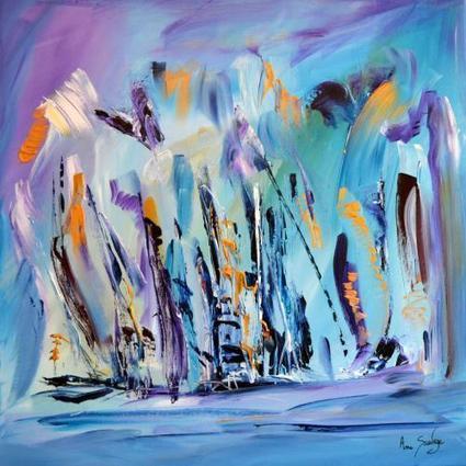 tableau bleu moderne- artiste contemporain ame sauvage | Artiste peintre contemporain | Scoop.it