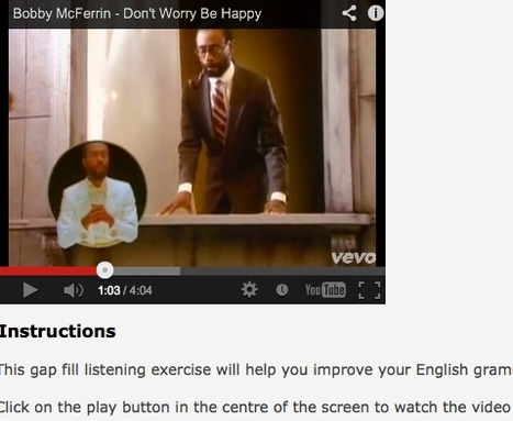 Learn English With Songs - Don't Worry, Be Happy, by Bobby McFerrin : Easy   English Language Learners   Scoop.it