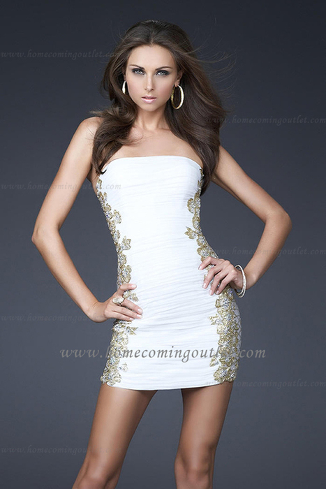 Side Embellishments White Short Prom Dresses by La Femme 16503 [La Femme 16503] - $160.00 : Prom and Homecoming Dress Online Shop Shows Various of Dresses for Anybody   BCBG & Herve Leger   Scoop.it