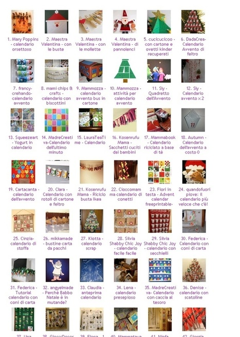 Advent Calendar / Calendario Avvento | oltre la pagina | Scoop.it