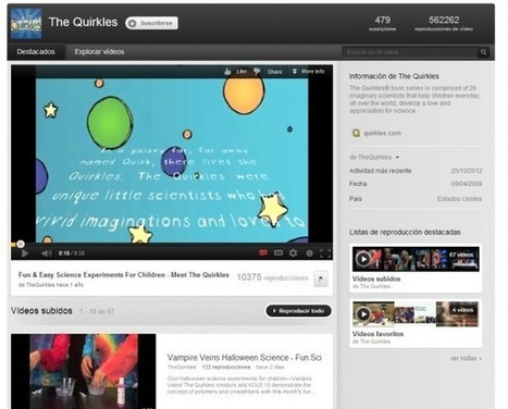 Canales de Youtube para aprender experiencias científicas para niños | Recull diari | Scoop.it