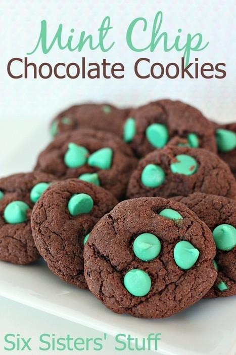 Mint Chip Chocolate Cookies | Six Sisters' Stuff | Food | Scoop.it