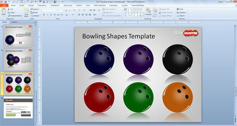 Free Bowling Shapes Template | Free PowerPoint Templates 1 | Scoop.it