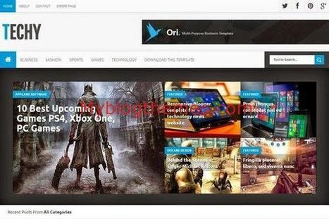 Responsive Blogger Technology Template Download | Blogger themes | Scoop.it