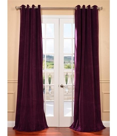 Signature Eggplant Grommet Blackout Velvet Curtain | window curtains | Scoop.it