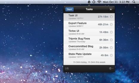 Acompanhe o tempo que você gasta em tarefas com o utilitário Tictoc para Mac | Apple Mac OS News | Scoop.it