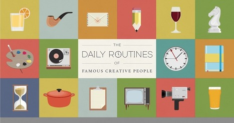 The Daily Routines of Famous Creative People | Podio | Strengths based approaches - Appreciative inquiry  - Solution Focus - Involve Consulting | Scoop.it