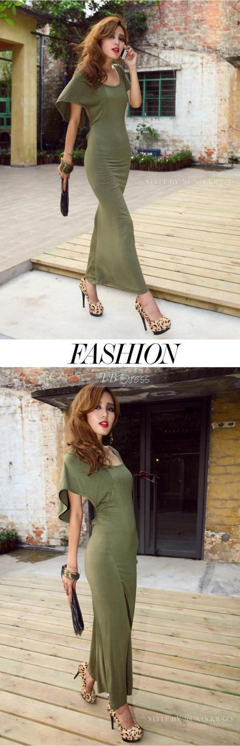 Beautiful Backless Fashion Maxi Dress   women fashion&clothing   Scoop.it