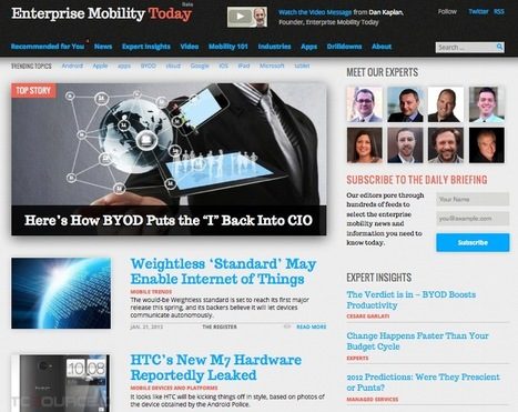 A Great Example of News Curation Supported by Industry Experts: Enterprise Mobility Today | Education Tech & Tools | Scoop.it