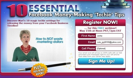 10 Ways to Turn your Facebook Timeline into Profits – FREE Webinar | Community Management | Scoop.it