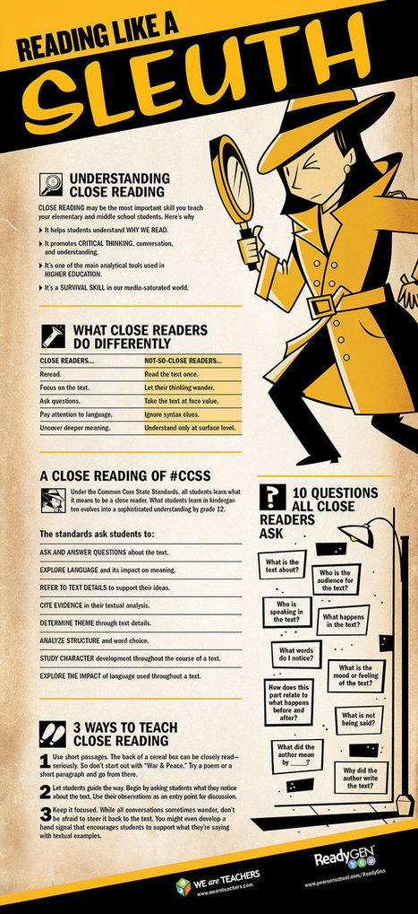 A Beautiful Classroom Poster on Close Reading | Educational Technology and Mobile Learning | For the Classroom | Scoop.it