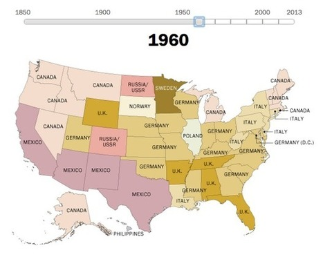 A State-by-State Map of U.S. Immigrant Countries of Origin From 1850 to 2013 - CityLab | digital divide information | Scoop.it