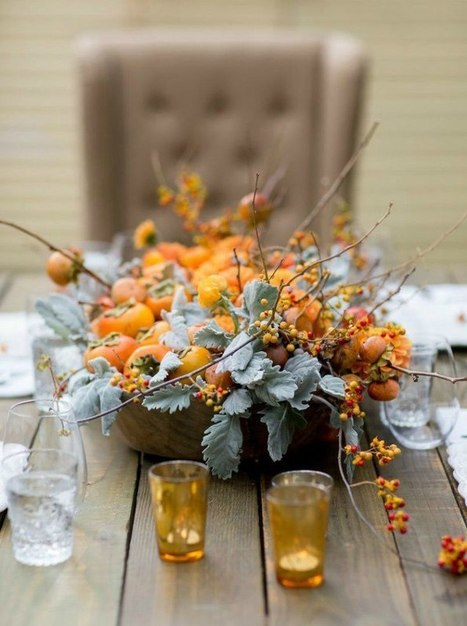 10 Epic and Elegant Thanksgiving Centerpieces   Christmas, Halloween and All Things Festive   Scoop.it