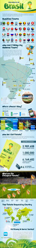 World Cup in Brazil: Where to Stay and How to Get Around [INFOGRAPHIC] - The WeHostels Blog | 2014 World Cup | Scoop.it