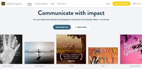 Adobe Spark - Communicate with impact | Tools for Teachers & Learners | Scoop.it