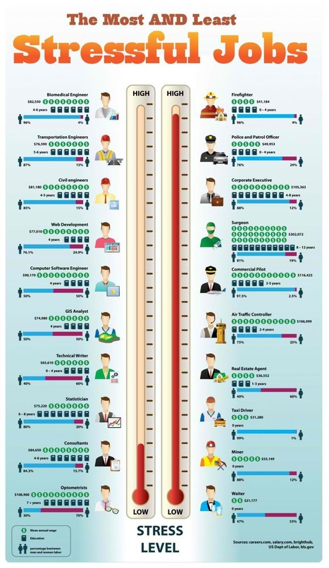 The Most and Least Stressful Jobs | Infographics for English class | Scoop.it