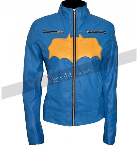 Batgirl Blue Jacket Leather | Replica Movies Leather Jackets | Scoop.it