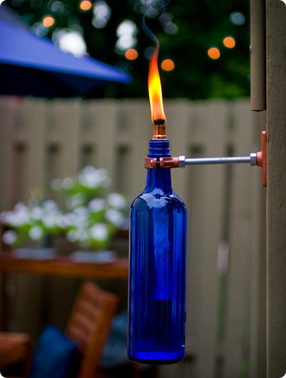 Wine bottle torch | Upcycled Garden Style | Scoop.it