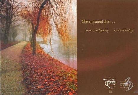 "From the NYSFDA Library: ""When a parent dies …"" - Sympathy Notes 