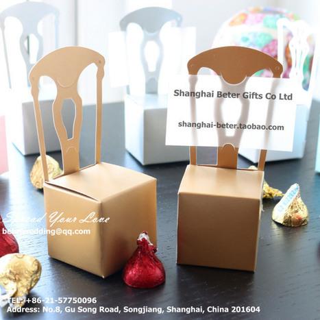 金色椅子喜糖盒/席位卡,桌卡,爆款回贈禮TH005婚慶用品 倍樂婚品 | 純歐式婚禮喜糖盒 倍樂婚品 | Scoop.it