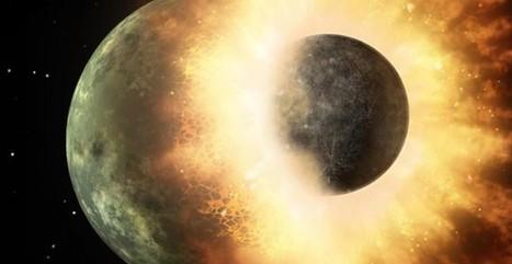 La Luna nació del choque frontal de la Tierra y un planeta en formación | GeeKeando | Scoop.it